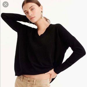 J Crew Italian Cashmere V Neck Boyfriend Sweater